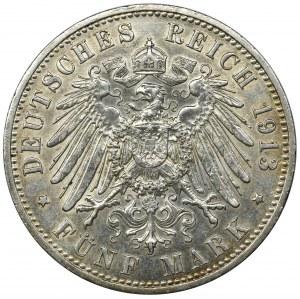 Niemcy, Królestwo Prus, Wilhelm II, 5 Marek Berlin 1913 A