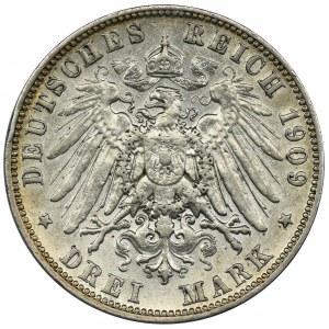 Niemcy, Saksonia, Fryderyk August III, 3 Marki Muldenhütten 1909 E