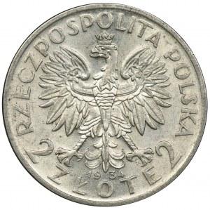 Głowa Kobiety, 2 złote 1934