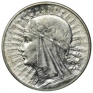Głowa Kobiety, 10 złotych Londyn 1932