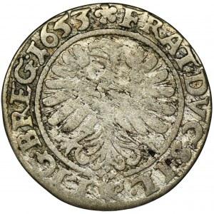 Śląsk, Księstwo Legnicko-Brzesko-Wołowskie, Jerzy III Brzeski, Ludwik IV Legnicki i Krystian Wołowsko-Oławski, 3 Krajcary Brzeg 1653