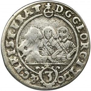 Śląsk, Księstwo Legnicko-Brzesko-Wołowskie, Jerzy III Brzeski, Ludwik IV Legnicki i Krystian Wołowsko-Oławski, 3 Krajcary Brzeg 1656