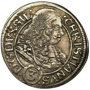 Śląsk, Księstwo Legnicko-Brzesko-Wołowskie, Krystian Wołowski, 3 Krajcary Brzeg 1669 CB