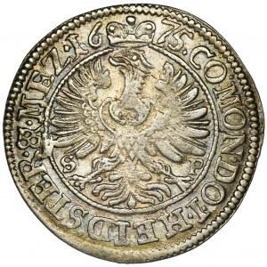 Śląsk, Księstwo Oleśnickie, Sylwiusz Fryderyk, 3 Krajcary Oleśnica 1675 SP