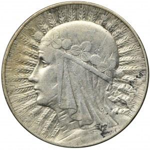 Głowa Kobiety, 5 złotych Warszawa 1932 - RZADKIE