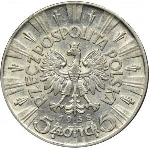 Piłsudski, 5 złotych 1938