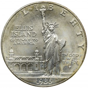 USA, 1 Dolar Filadelfia 1986 P - Ellis Island