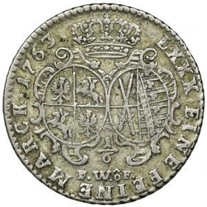 Augustus III of Poland, 1/6 Thaler Dresden 1763 FWôF