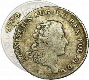 Poniatowski, Dwuzłotówka 1770 IS - duże orły, BARDZO RZADKI ROCZNIK