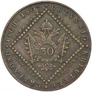 Austria, Franciszek II, 30 Krajcarów Wiedeń 1807 A