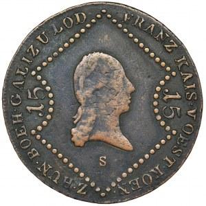 Austria, Franciszek II, 15 Krajcarów Schmöllnitz (Smolnik) 1807 S
