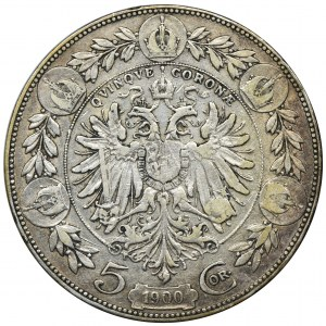 Austria, Franciszek Józef I, 5 Koron Wiedeń 1900