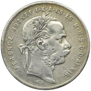 Węgry, Franciszek Józef I, 1 Forint Kremnica 1879 KB