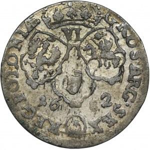 Jan III Sobieski, Szóstak Bydgoszcz 1682 TLB - herb Leliwa, kokardy