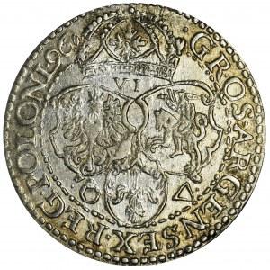 Zygmunt III Waza, Szóstak Malbork 1596 - małe popiersie
