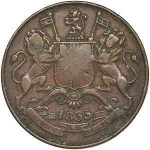 Indie, Indie Brytyjskie, Prezydencja Madras, 1/2 Anna 1835