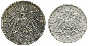 Zestaw, Niemcy, Hamburg, Marki (2 szt.)