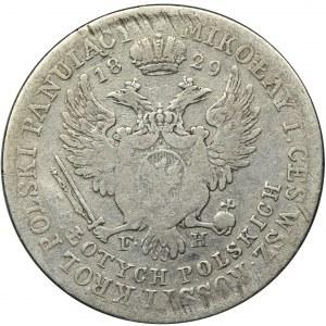 Królestwo Polskie, 5 Złotych Warszawa 1829 FH - RZADSZE