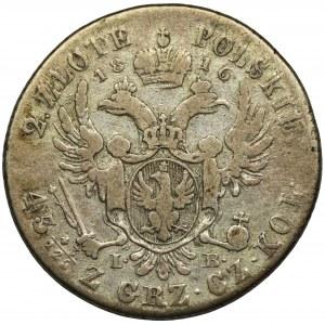 Polish Kingdom, 2 zloty Warsaw 1816 IB