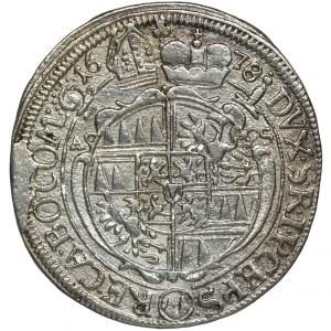 Austria, Biskupstwo Ołomuniec, Karol II Liechtenstein, 6 Krajcarów Kromieryż 1678 - RZADKIE