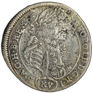 Węgry, Leopold I, 15 Krajcarów Kremnica 1689 KB