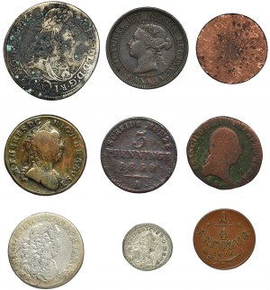 Zestaw, Mix monet zagranicznych (9 szt.)