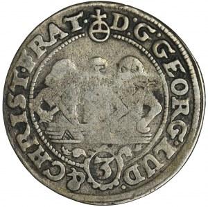 Śląsk, Księstwo Legnicko-Brzesko-Wołowskie, Jerzy III Brzeski, Ludwik IV Legnicki i Krystian Wołowsko-Oławski, 3 Krajcary Brzeg 1657