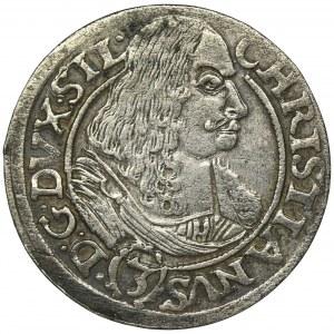 Śląsk, Księstwo Legnicko-Brzesko-Wołowskie, Krystian Wołowski, 3 Krajcary Brzeg 1668 CB