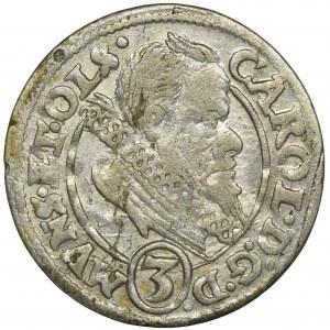 Śląsk, Księstwo Ziębicko-Oleśnickie, Karol II, 3 Krajcary Oleśnica 1615