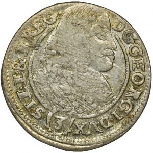 Śląsk, Księstwo Legnicko-Brzesko-Wołowskie, Jerzy III Brzeski, 3 Krajcary Brzeg 1661 EW