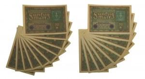 Germany, set of 50 mark 1919 (19 pcs.)