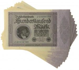 Germany, set of 100.000 mark 1923 (9 pcs.)