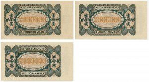 Germany, set of 2 milion mark 1923 (3 pcs.) - next numbers