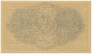 100 marek 1919 - Ser. AH - z nadrukiem