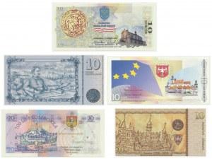 Zestaw kolekcjonerskich bonów w dedykowanych folderach (5 szt.)