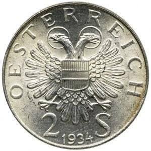 Austria, 2 Szylingi Wiedeń 1934
