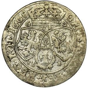 Jan II Kazimierz, Szóstak Bydgoszcz 1668 TLB - RZADKI, niespotykany portret