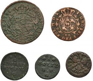 Zestaw, Poniatowski i Jan II Kazimierz (5 szt.)