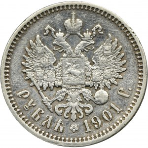 Rosja, Mikołaj II, Rubel Petersburg 1901 Ф•З