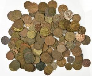 Zestaw, Mix groszy 1 - 5 groszy 1923-1939 - 441 gram