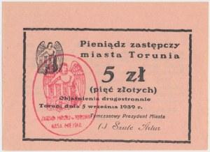 Toruń, 5 złotych 1939 - rzadkie
