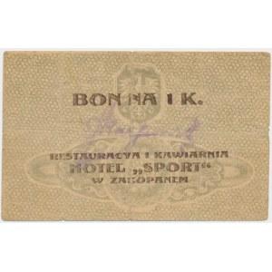 Zakopane, Hotel Sport, 1 korona