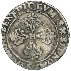 Henryk Walezy, 1/2 Franka Tuluza 1589 M