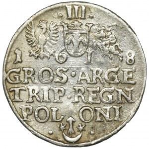 Zygmunt III Waza, Trojak Kraków 1618 - SIGIS