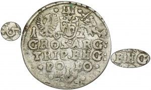 Zygmunt III Waza, Trojak Kraków 1624 - REG jak RHG, niedobita 6