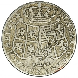 August III, 1/3 Talara (półgulden) Drezno 1754 FWôF