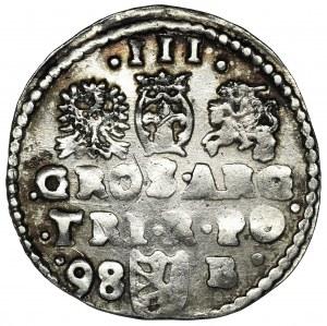 Zygmunt III Waza, Trojak Bydgoszcz 1598 - B z prawej
