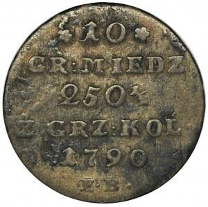 Poniatowski, 10 Copper groschen Warsaw 1790 EB
