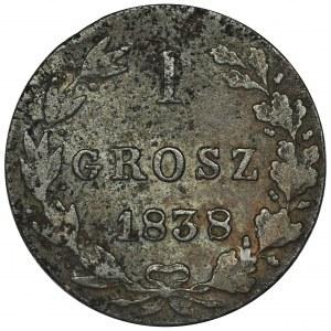 1 Grosz Warszawa 1838 MW - RZADKI