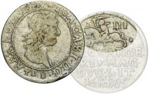 Jan II Kazimierz, Trojak Wilno 1665 - RZADKI, III nad Pogonią